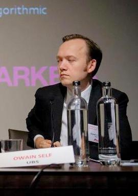 Owain Self, global co-head of direct execution and global head of algorithmic trading at UBS