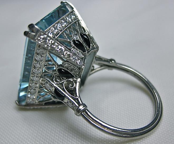 Aqua Deco ring