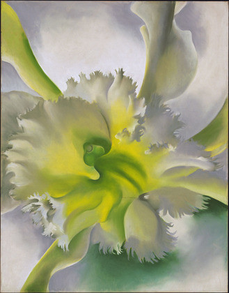 Georgia O'Keeffe's An Orchid, 1941, Pastel on paper mounted on board © 2013 The Museum of Modern Art / Artists Rights Society (ARS), New York
