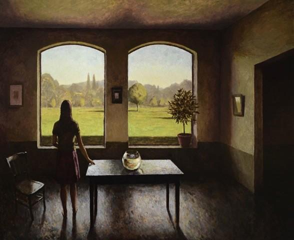 MC 006 - Les arbres, 2013, Oil On Canvas 64x51