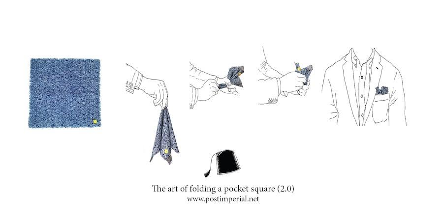The art of folding pocket square