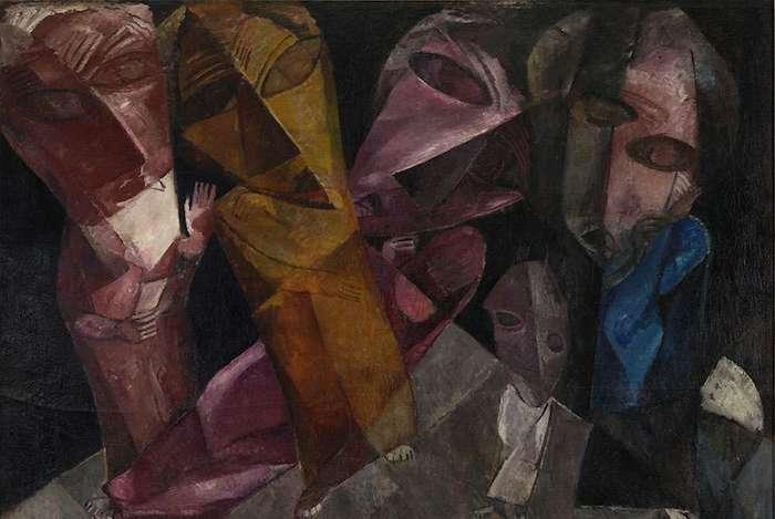 Lasar Segall. b. 1891 d. 1957. Eternal Wanderers. 1919 oil on canvas. Lasar Segall Museum, IBRAM/Ministry of Culture. Photo: Jorge Bastos