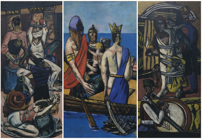 Max Beckmann. b. 1884 d. 1950. Departure.1932-1935. oil on canvas. The Museum of Modern Art, New York. Given anonymously (by exchange). Digital Image © 2014 The Museum of Modern Art/Licensed by SCALA/Art Resource, NY © 2014 Artists Rights Society (ARS), New York/VG Bild-Kunst, Bonn