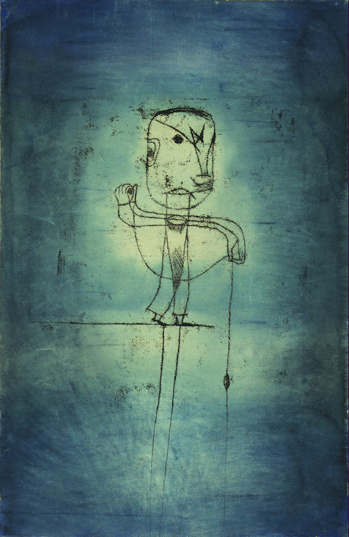 Paul Klee. b. 1879 d. 1940. The Angler. 1921. watercolor, transfer drawing and ink on paper. The Museum of Modern Art, New York. John S. Newberry Collection Digital Image © 2014 The Museum of Modern Art/Licensed by SCALA/ Art Resource, NY © 2014 Artists Rights Society (ARS), New York