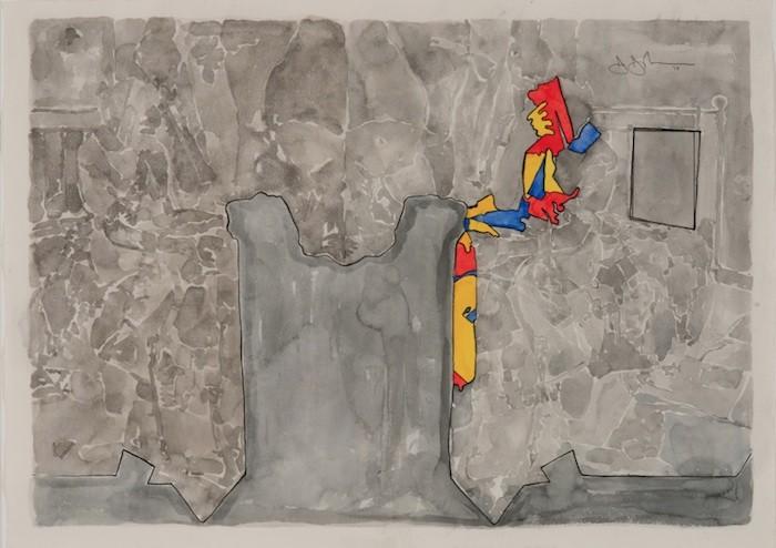 Jasper Johns (American, born 1930). Untitled. 2013. Watercolor on paper. 22 1/4 × 31″ (56.5 × 78.7 cm). © Jasper Johns/Licensed by VAGA, New York, NY. Photograph: Jerry Thompson
