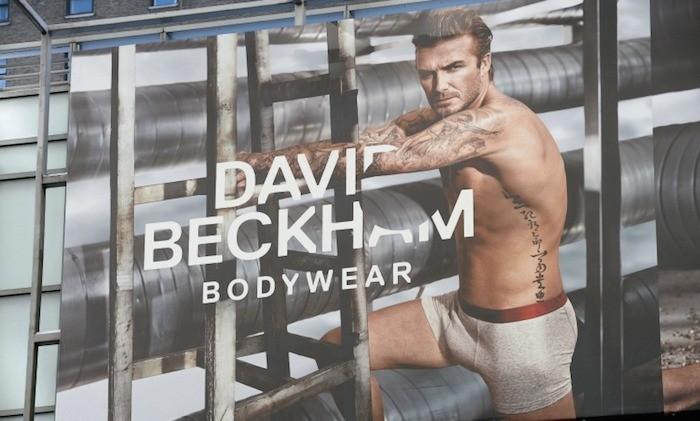 David  Beckham Bodywear Collection billboard ads in Manhattan