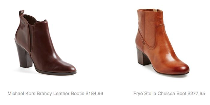 Michael Kors Brandy Leather Bootie $184.96, Frye Stella Chelsea Boot $277.95