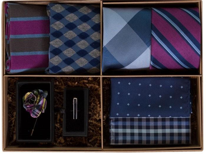 The Azalea and Navy Style Box, $89