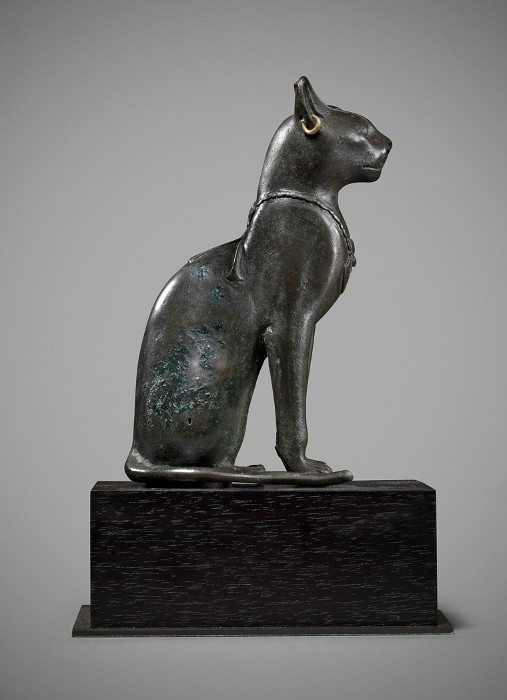•Rupert Wace Ancient Art Limited. Egyptian Bronze Cat. Late Dynastic Period, 25th-31st Dynasty 715-332 BC.