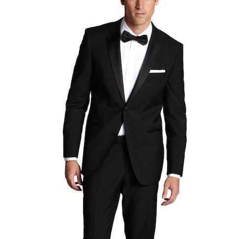 'Stars/Glamour ', Virgin Wool Notched Lapel Tuxedo by BOSS
