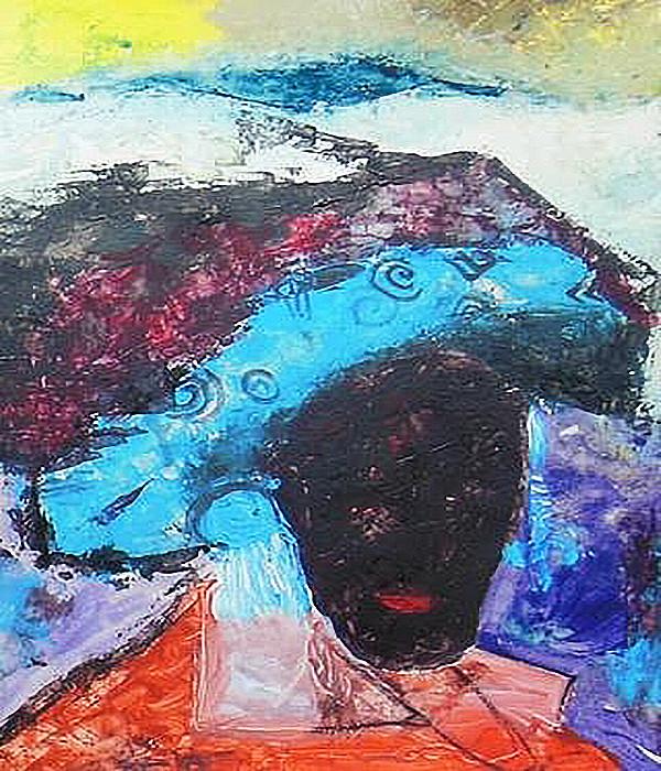 "Peter Ray Mwasha's Princess Malikia 3. Acrylic & Gouache on Paper 16.5"" x 12"""