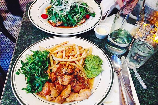 Sauteed Chicken/Spicy Chickena at Tartine Café Photo via MarketsMedia/Stephanie Oh