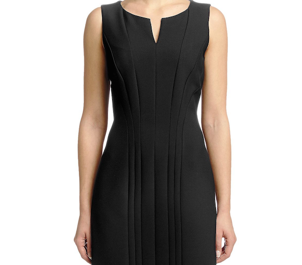 Stretch Cotton Blend Sheath Dress by BOSS