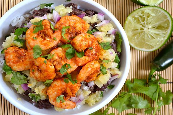 Chili Lime Shrimp Bowls Image courtesy of Budget Bytes
