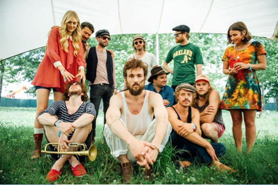 Edward Sharpe & The Magnetic Zeros © David McClister Backstage @ Bonnaroo Courtesy of Morrison Hotel Gallery