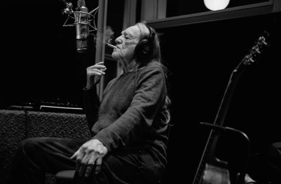 Willie Nelson © David McClister Recording at Sound Emporium, Nashville TN Courtesy to Morrison Hotel Gallery