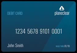 PlaneClear Debit Card