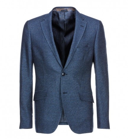 BLUE TWO-BUTTON BLAZER