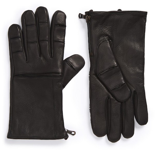 John Varvatos Deerskin Leather Gloves