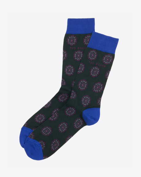 Ted Baker FABBIOS Floral geo cotton socks