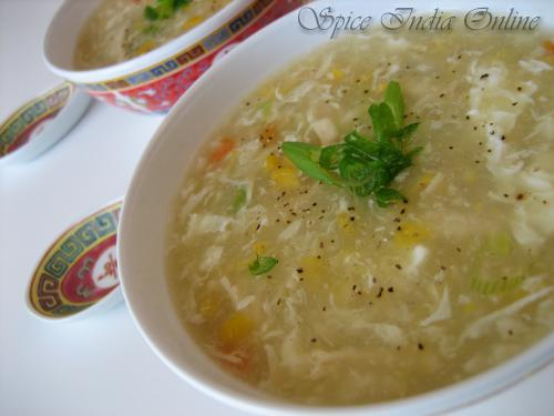 Sweet Corn Chicken Soup, India
