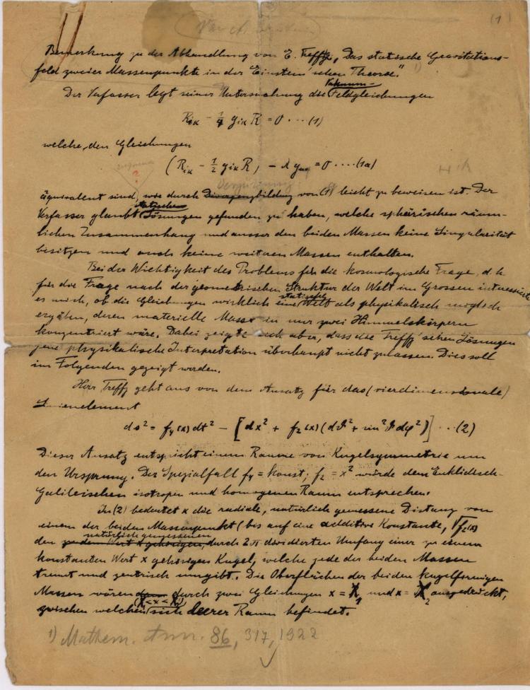 Sharing Notes with Einstein